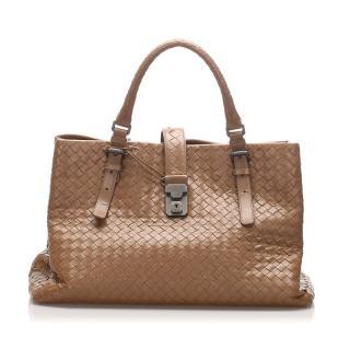 Bottega Veneta Large Roma Intrecciato Handbag