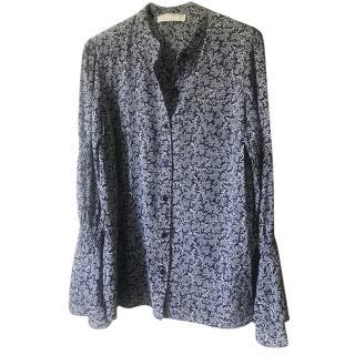 Michael Michael Kors Floral Blue Printed Blouse