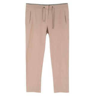 Brunello Cucinelli Brown Trousers with Monili Bead Waist Band