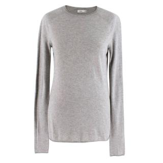 Vince Grey Crew Neck Long Sleeve Knit Top