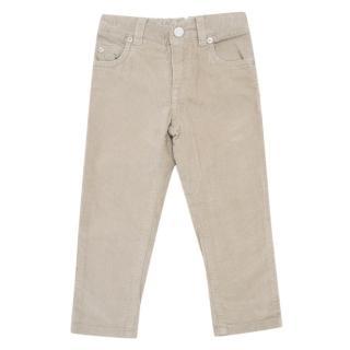 Loro Piana Kids Oatmeal Corduroy Jeans