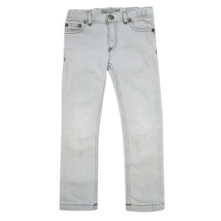 Bonpoint Light Grey Kids Skinny Jeans