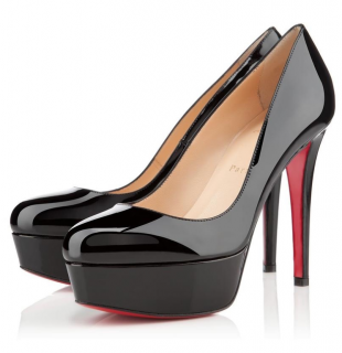 Christian Louboutin Bianca 120 Black Patent Pumps