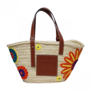 Loewe Medium Raffia Basket Bag