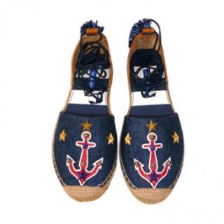 Dolce & Gabbana navy nautical espadrilles