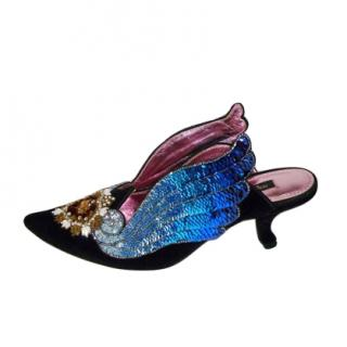 Dolce & Gabbana Sacred Heart Velvet Mules