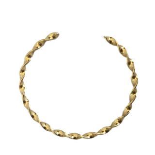 Dior vintage gold metal choker