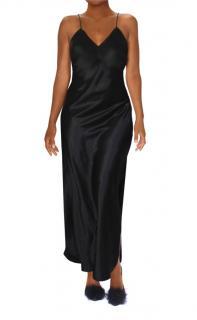 Maguy de Chadirac Black Bias Cut Slip Dress