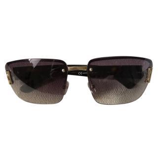 Gucci vintage dark brown sunglasses