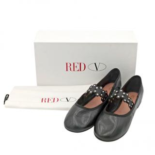 Red Valentino black flat mary jane pumps