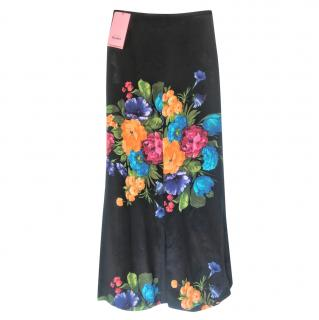 Gucci Garden Collection black silk culotte pants