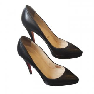 Christian Louboutin black leather Pigalle Plato 100 Pumps