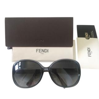 Fendi dark blue FF logo sunglasses