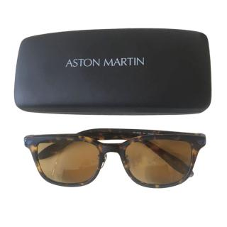 Aston Martin Racing faux tortoiseshell/titanium sunglasses