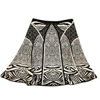 Diane Von Furstenberg Black & White Knit Skirt