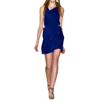 Vanessa Bruno silk blue runway mini dress
