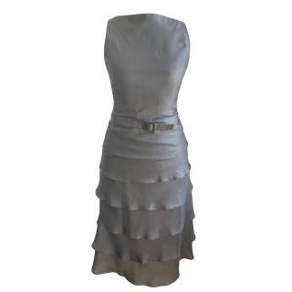 Boss Hugo Boss Silk Sleeveless Ruffled Dress