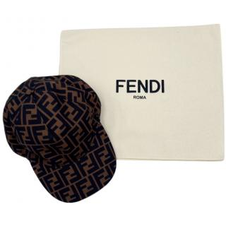 Fendi Brown Monogram Cap