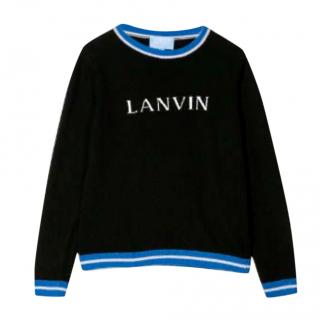 Lanvin Intarsia Knit Kids Wool Jumper