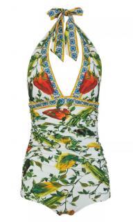 Dolce & Gabbana Peppers Print Halterneck Swimsuit