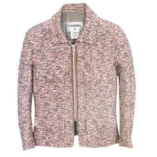 Chanel Spring Silk Blend Tweed Jacket