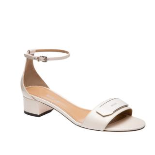 Bally white ankle strap sandals