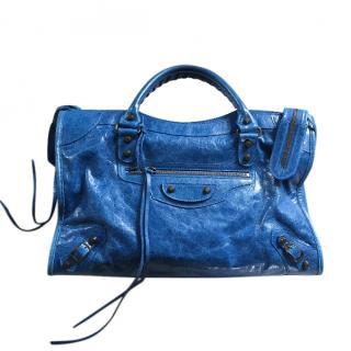 Balenciaga electric blue medium city bag