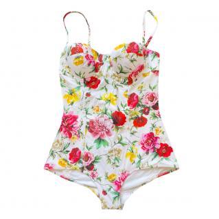 Dolce & Gabbana balcony bra floral swimsuit