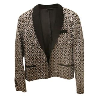 The Kooples Silver & Black Sequin Jacket