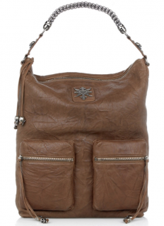 Thomas Wylde Brown Leather Mission Tote Bag
