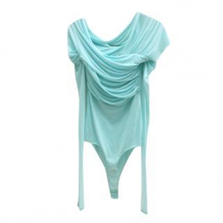 Roberto Cavalli turquoise draped body