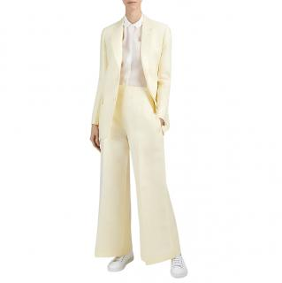 Joseph Sherbet Yellow Wool Silk Gazar Marlborough Jacket