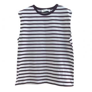Etre Cecile Burgundy Striped Sleeveless Top