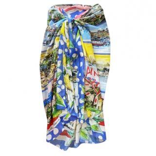 Dolce & Gabbana Cannes Print Wrap Sarong
