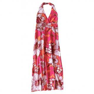 Antik Batik Fuchsia Halterneck Dress