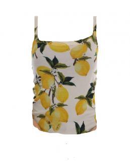 Dolce & Gabbana Lemon Print Knit Cami Top