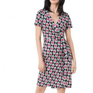 Diane Von Furstenberg Julian Banded Wrap Dress