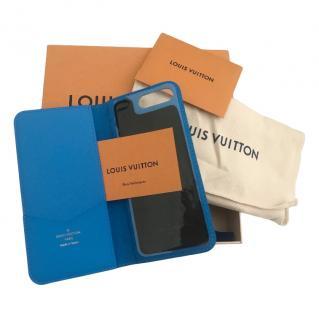 Louis Vuitton Monogram Blue iPhone 7/8 Folio Case