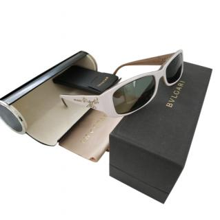 Bvlgari Crystal Embellished White Sunglasses