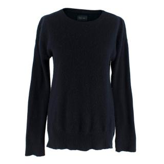 Zadig & Voltaire Navy Cashmere Jumper with Star Elbow Patch