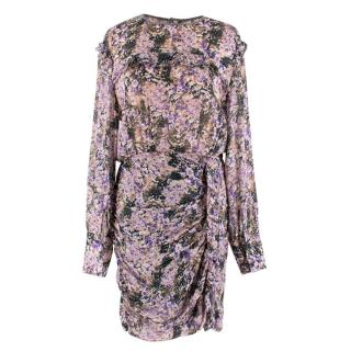 Isabel Marant Etoile Long Sleeve Printed Drape Dress