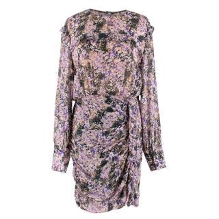 Isabel Marant Etoile Long Sleeve Printed Drape Dress