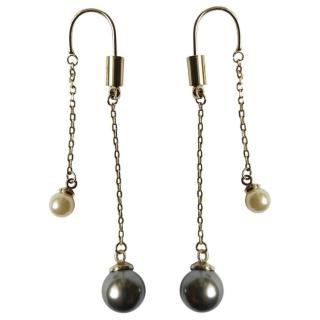 Dior Ultradior Faux Pearl Link Drop Earrings