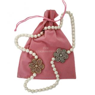 Cem Lokmanhekin faux pearl floral necklace