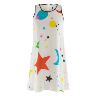 Lisa Perry Sleeveless Outline Galaxy Shift Dress