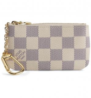 Louis Vuitton Zip Top Damier Azur key pouch.