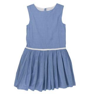 Mademoiselle Jacadi Blue Girls Cotton Dress