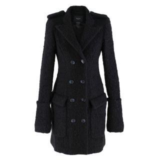 Smythe Black Wool & Alpaca Blend Coat
