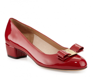 Ferragamo Red Patent Vara Bow Pumps