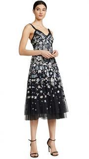 Needle & Thread Wildflower sequin and tulle midi dress